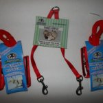 Sheppard-Greene-Ferret-Harness-Lead-Set-Two-Harnesses-Tandem-Coupler-Red-0