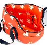 Soft-Pet-Carrier-BAG-Comfort-Tote-Plush-Red-w-White-Paw-Prints-Hobo-Bag-0-1