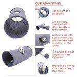 Speedy-Pet-Collapsible-Cat-Tunnel-Cat-Toys-Play-Tunnel-Durable-Suede-Hideaway-Pet-Crinkle-Tunnel-with-Ball12-inch-Diameter-0-1