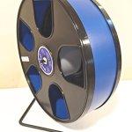 Wodent-Wheels-Chinchilla-Hedgehog-Wide-Track-12-Diameter-Exercise-Dark-Blue-with-Black-Panels-0