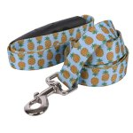 Yellow-Dog-Design-Pineapples-Blue-EZ-Grip-Dog-Leash-0