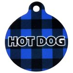 Yellow-Dog-Design-Plaid-Personalized-Hi-Def-Pet-ID-Tag-with-Silencer-0