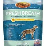 Zukes-Enhance-Fresh-Breath-Chicken-Formula-Functional-Dog-Chews-5-oz-Pouch-0