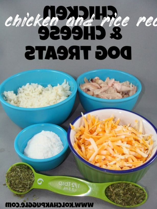Information about chicken and rice recipe for a dog