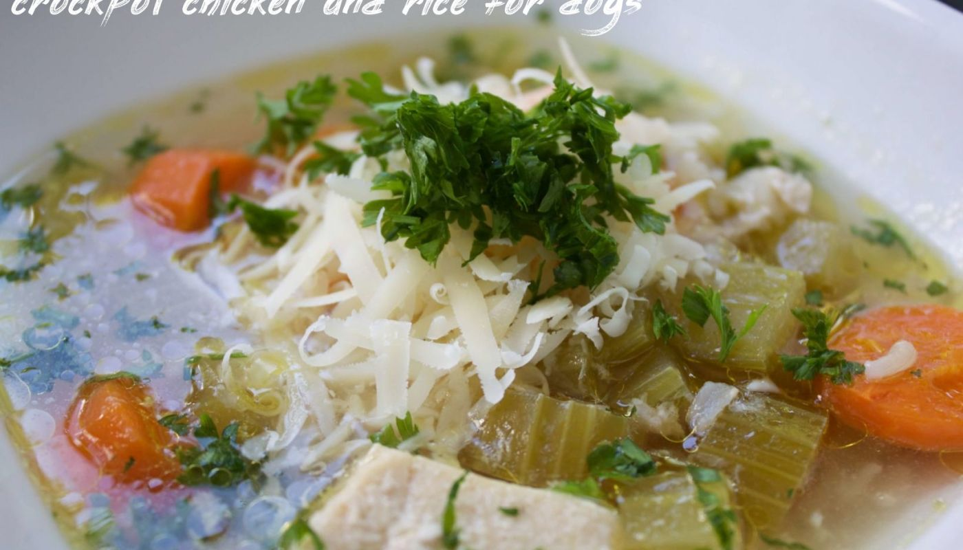 Crockpot Chicken And Rice For Dogs