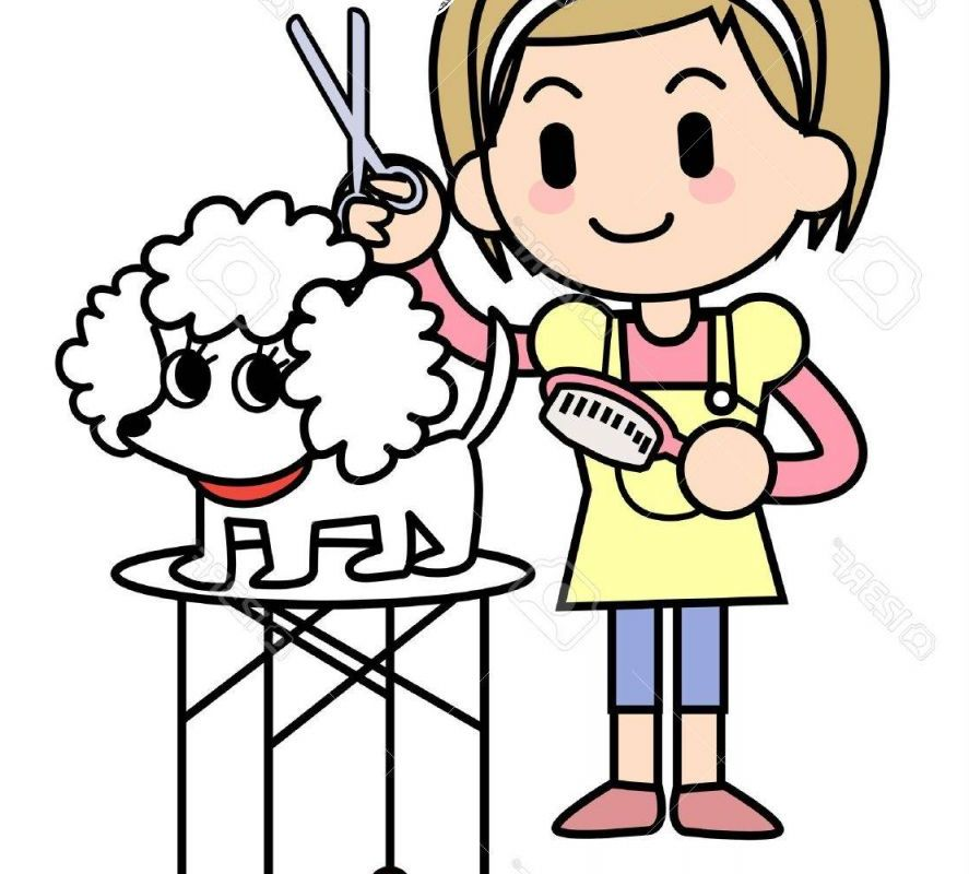 Dog Grooming Clipart