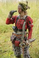 The jaeger Friederike Schultzenstein scouts the area. Pre-larp prepartion. Photo: Elin Gustafsson