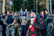 The pro-Finnish BBC reporting from a demonstration. Ingame. Photo: Tuomas Puikkonen (CC-BY 2.0)