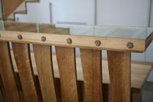 Detail showing rope samples in desk top
