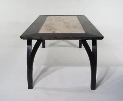 Wishbone Table in scorched oak