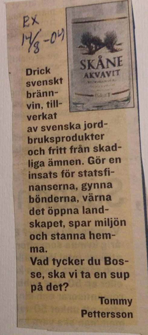 Insändare Bosse Ringholm