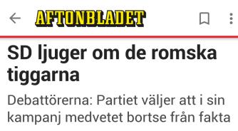 Aftonbladet Tiggeri