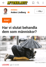 Aftonbladet tiggare