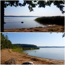"""En av """"Petterssons"""" badplatser i en av Södermanlands insjöar."""