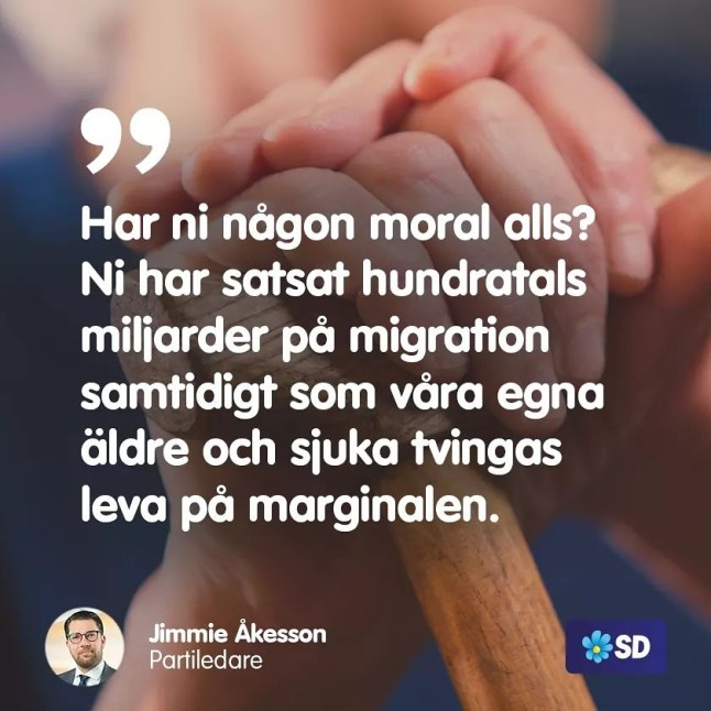 SD om moral och åldringsvård