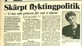 1989 kom c:a 30.000 flyktingar, då var Sverige fullt enligt socialdemokraterna. I år kommer 80.000-90.000 uppehållstillstånd att beviljas, trots att gränserna är stängda enligt socialdemokraterna.