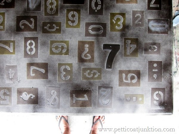 How To Stencil Numbers On Furniture The Easy Way