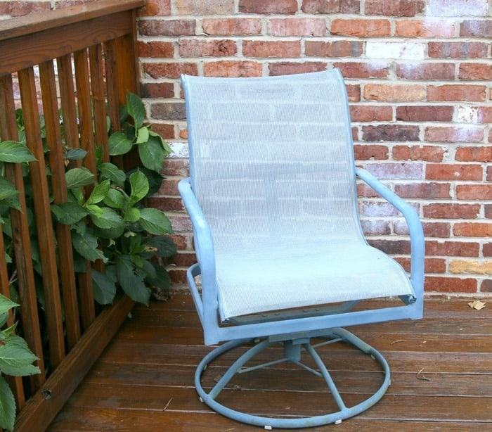 spray paint mesh metal outdoor patio