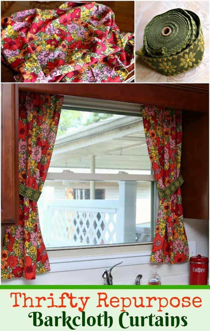 Vintage Barkcloth Curtains One Becomes Two Petticoat Junktion