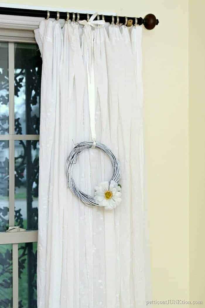 white wreath dollar store crafts