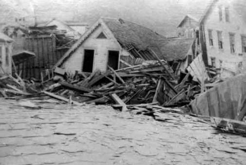 Johnstown Flood debris-house