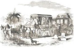 Celerity Wagon butterfield_overland_mail_vehicle_illustrated_newspaper_1858