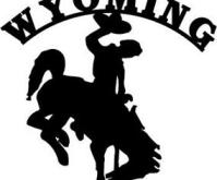 Wyoming Cowboy silhouette