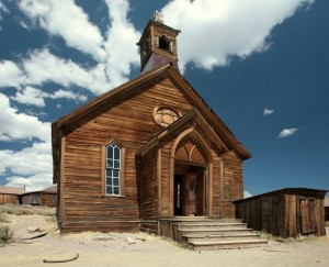 The church at Bodie.