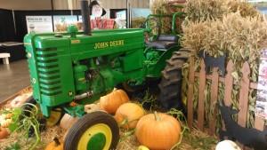 tractor and pumpkins