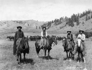 Texas cowboys, circa 1880