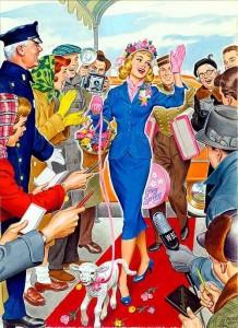Easter 2-Gal on red carpet wlamb