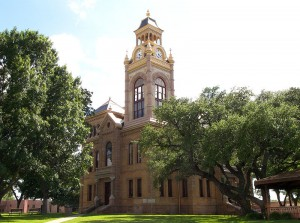 The Llano County courthouse, built in 1893 and still in use, is a Recorded Texas Historic Landmark and listed on the National Register of Historic Places. (Photo by Larry D. Moore)