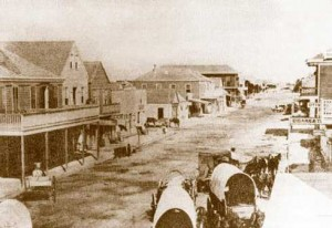 Indianola ca. 1875. Image courtesy of the Texas State Library and Archives Commission.