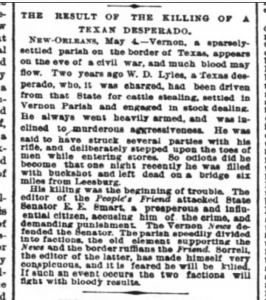 NYT May 4 1889 article WD Lyles murder
