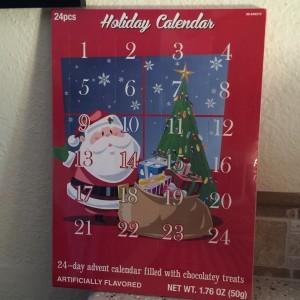 Advent candy calendar