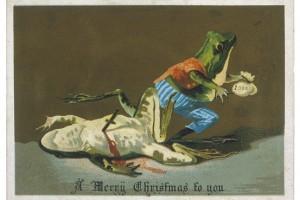 Vintage Christmas--Frog violence