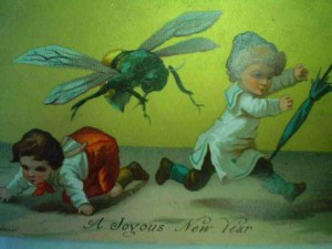 Vintage Christmas (New Year)--giant wasp