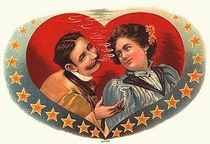 VINTAGE VALENTINE-day-clip-art-couple-smoking1