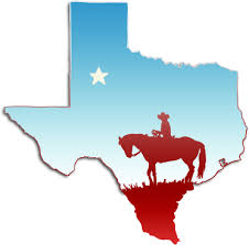 Outline of Texas with Horseman