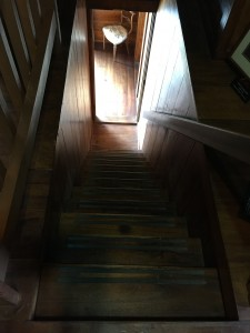 Petticoats Parker stairway