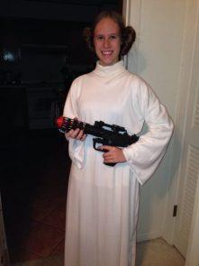 Princess Leia for Halloween