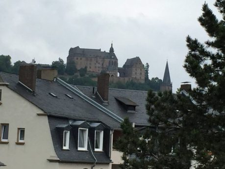 View from my window in Marburg. If I leaned out the 3rd story window, I could see the castle on the hill overlooking the city.