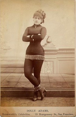 Dolly Adams, exotic dancer in San Francisco, 1890s