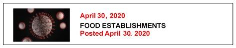 4-30-20 FOOD ESTABLISHMENTS