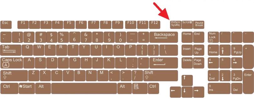 5 Cara Screenshot Windows 10 Tanpa Software (Tersimpan Otomatis) - keyboard 156077 1280 1