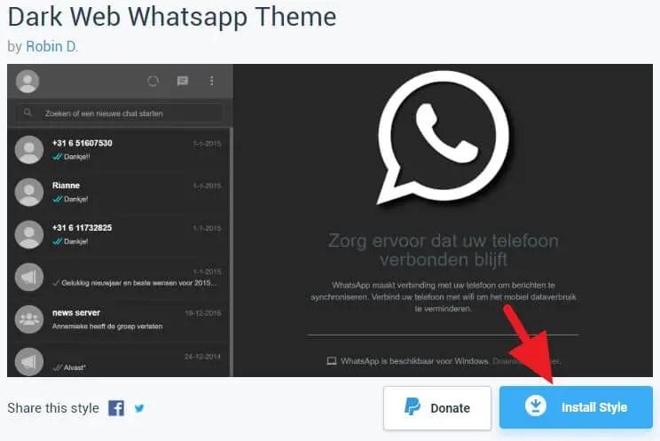 Ganti Tampilan WhatsApp Web