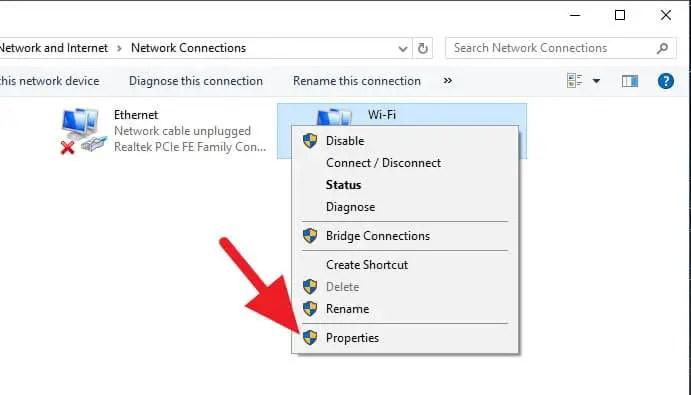 Ganti DNS Windows 1.1.1.1
