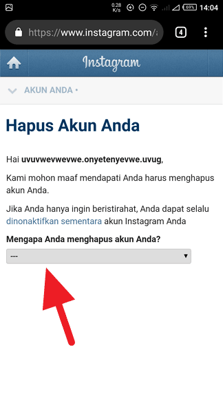 Hapus Instagram Permanen