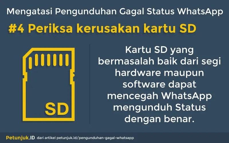 Mengatasi Penguduhan Gagal Status WhatsApp dengan memeriksa kartu SD