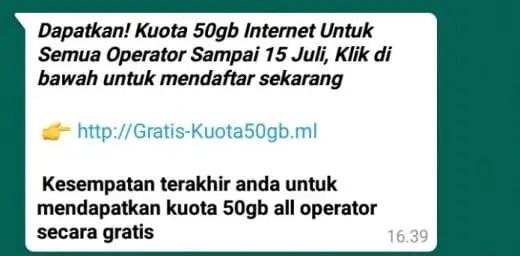 Scam WhatsApp